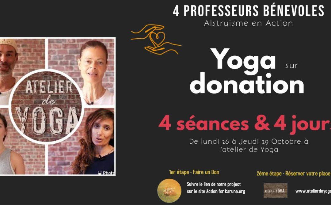Yoga sur Donation  (Karuna-Matthieu Ricard)